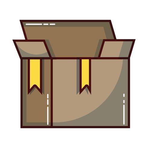 doos pakket object open ontwerp vector