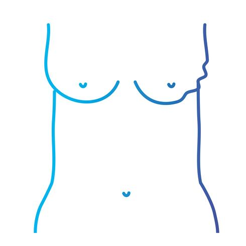 lijn moeder borstkanker ziekte en behandeling preventie vector