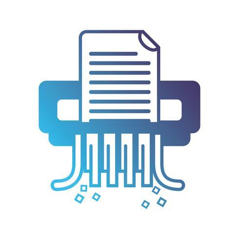 silhouet kantoor papiervernietiger machine ontwerp vector