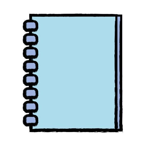 notebookpapier objectontwerp om te schrijven vector