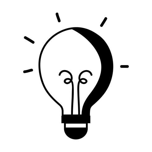 contour gloeilamp energie object pictogram vector