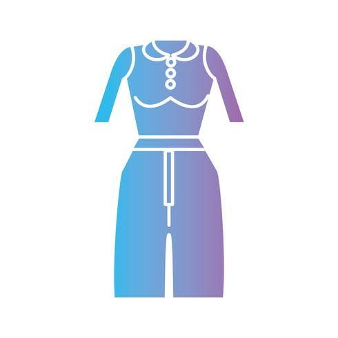 silhouet vrouw kleding stijl ontwerp vector