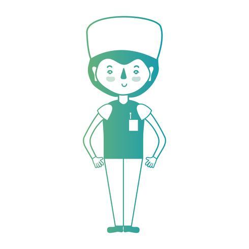 lijnman arts met uniform en kapselontwerp vector