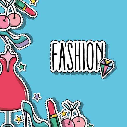 mode patches trendy paginaontwerp vector