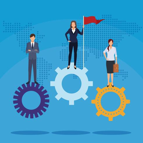Teamwerk bedrijfsconcept vector