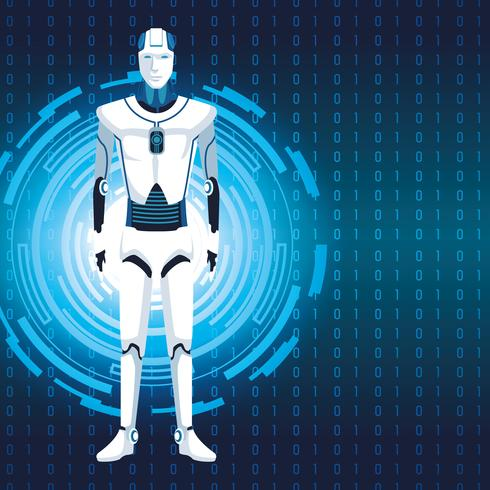 humanoïde robot avatar vector