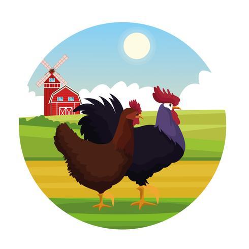 Farm landelijke dieren tekenfilms vector