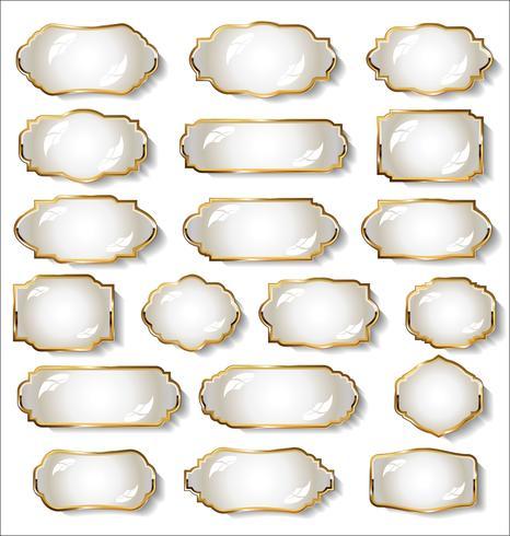 Luxe premium gouden badges en labels vector