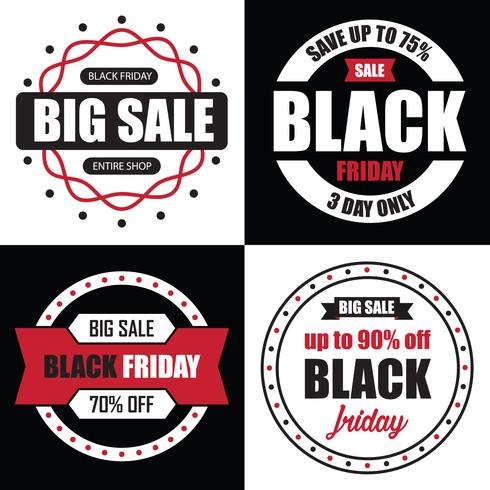 Black Friday Banner Sale, beste tempalate voor uw web vector
