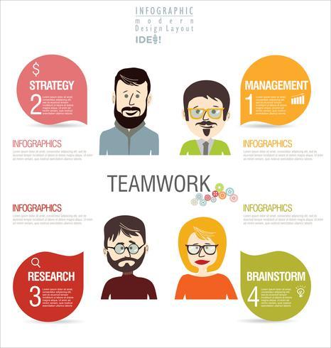 bedrijfsconcept modern ontwerp infographic vector
