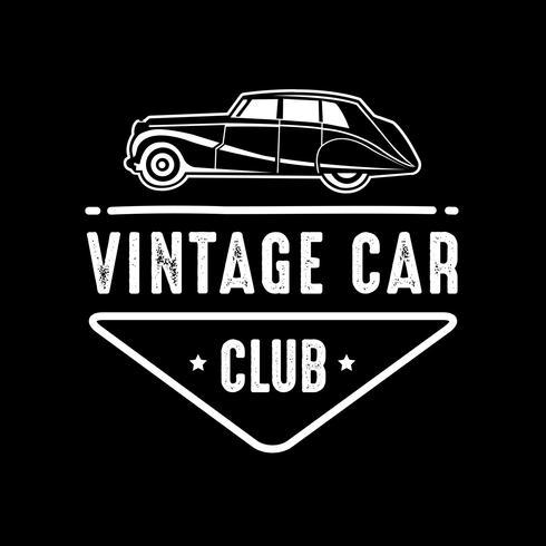 Autobadge en logo, goed voor afdrukken vector