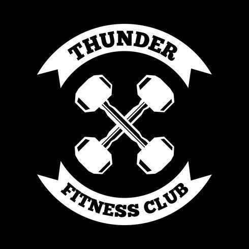 Fitnessbadge en logo, goed voor printontwerp vector
