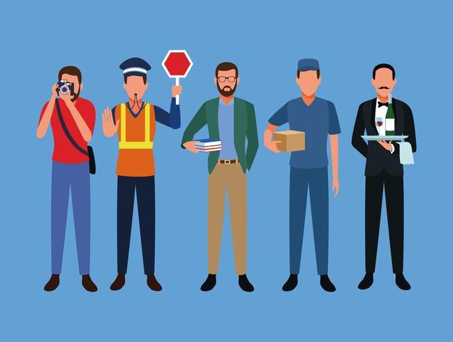 Aantal banen en beroep vector