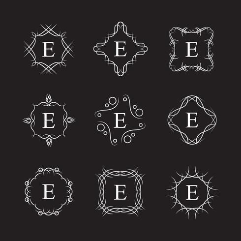 Koninklijke alfabet Logo sjabloon vector