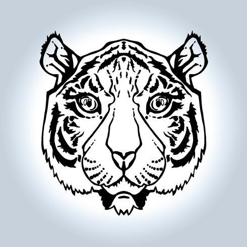 lijntekeningen tijger vector