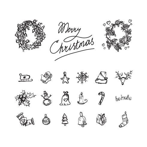Merry Christmas pictogrammen vector