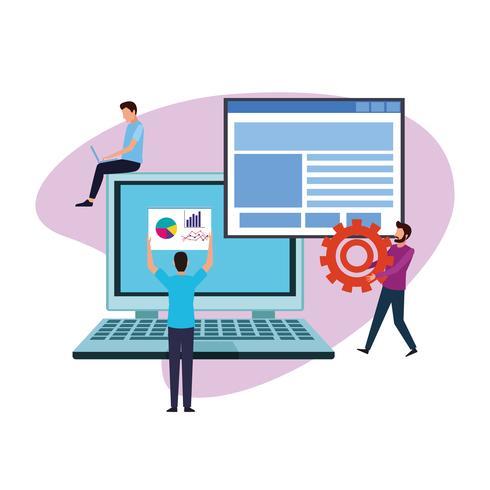 computerontwerp teamwork vector