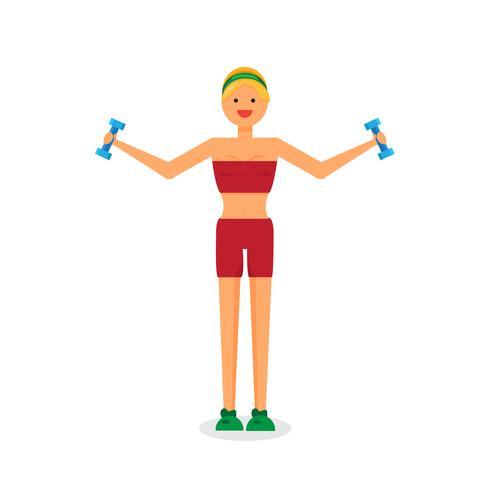 Gelukkig fitness meisje vector