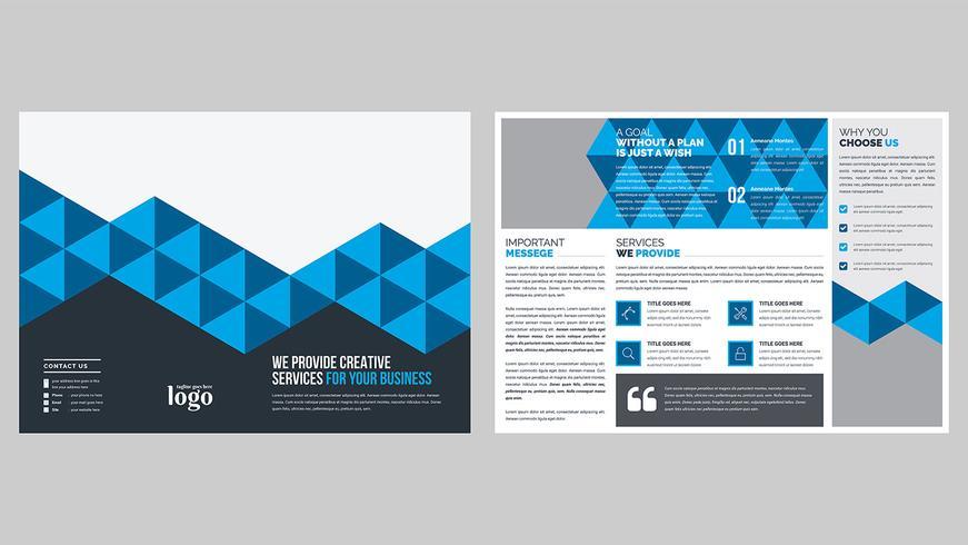 Patroon Bi-vouw Brochure Template vector