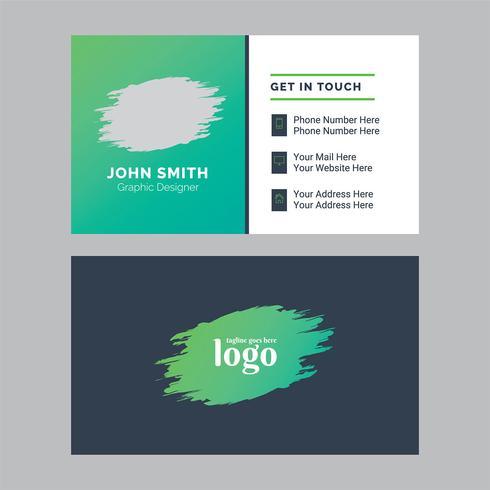 Corporate kleurrijke visitekaartje ontwerpsjabloon vector