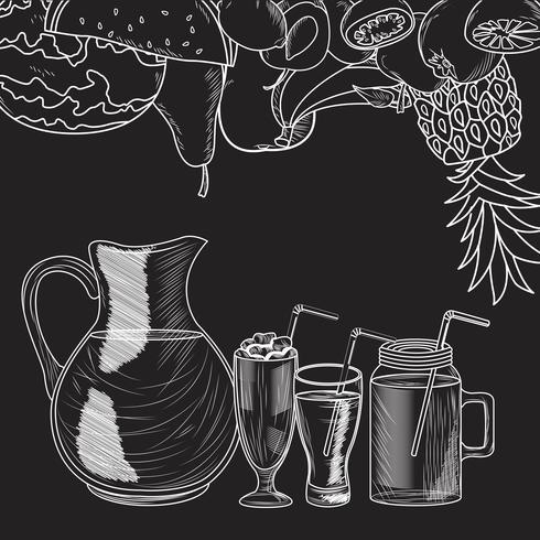 Fruit smoothie drankje vector