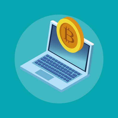 Bitcoin cryptocurrency-technologie vector