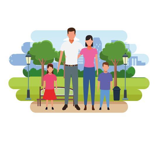 Familie mensen cartoon vector