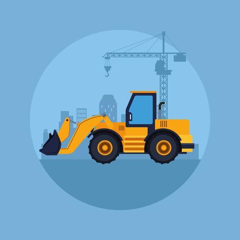 bouw voertuig cartoon vector