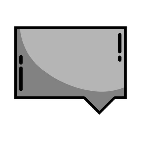 grijswaarden chat bubble notities tekstbericht vector
