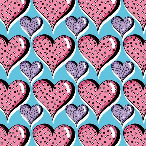 hartsymbool van liefde achtergrondontwerp vector