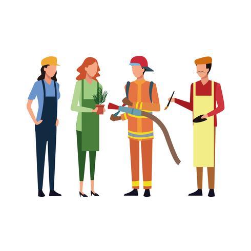Werk en werknemers vector