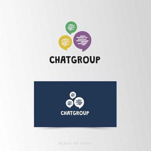 Logo Zakelijk Chat groep eenvoudig ontwerp vector