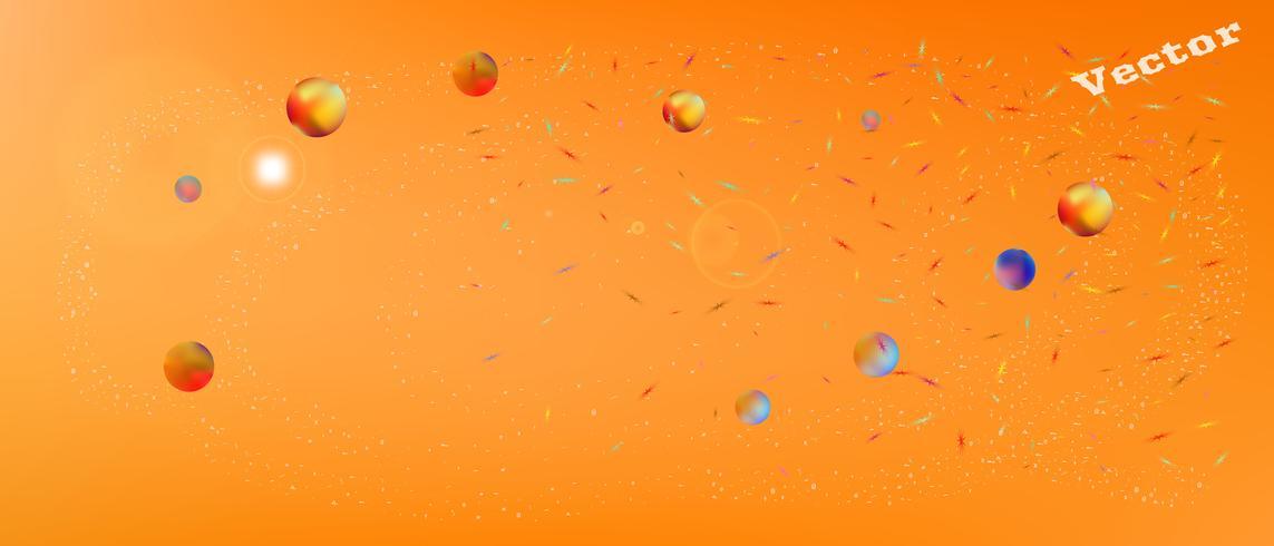 Minimale abstracte ultrabrede ruimteachtergrond vector