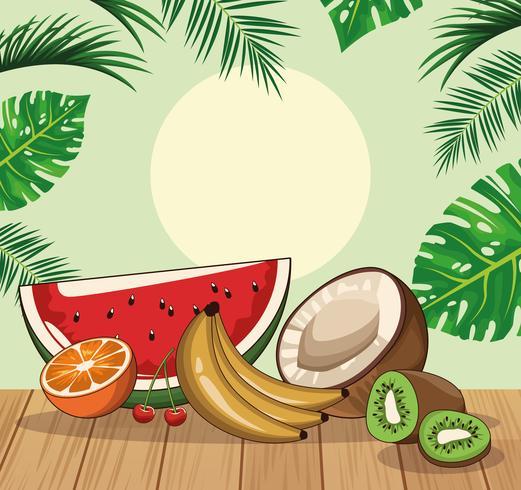 tropisch vers fruit vector