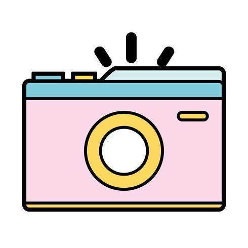 digitale camera om een foto te maken vector