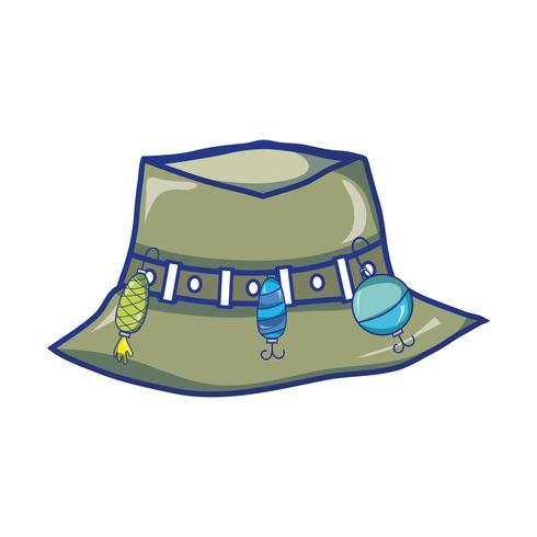 vissende boer hoed object, aan warker vector