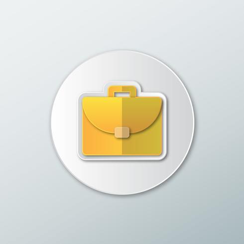 Portfolio pictogram in een vlakke stijl vector