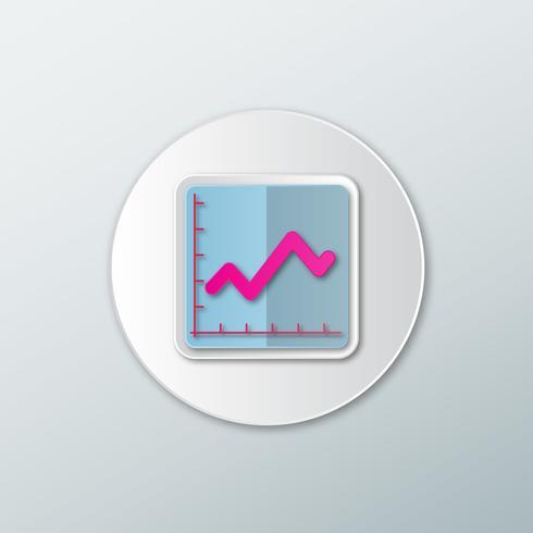 Statistiekenpictogram in een vlakke stijl vector