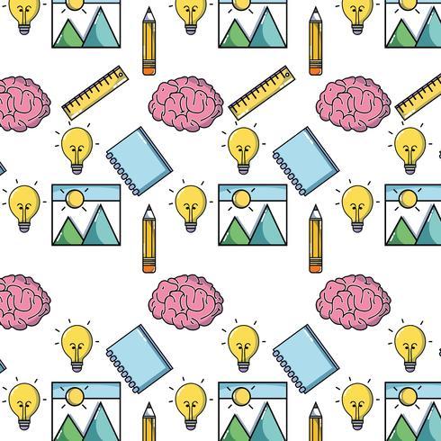 school hulpmiddel onderwijs backgroun ontwerp vector