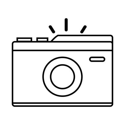 lijn digitale camera om een foto te maken vector