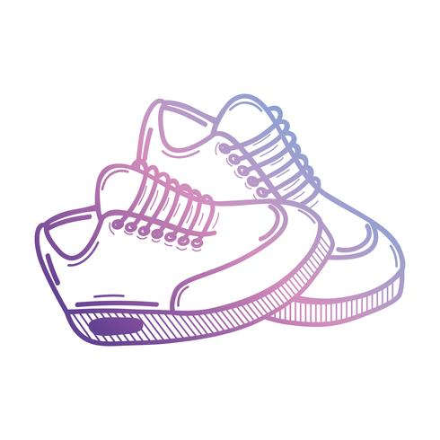 lijn sport sneakers stijl ontwerp vector