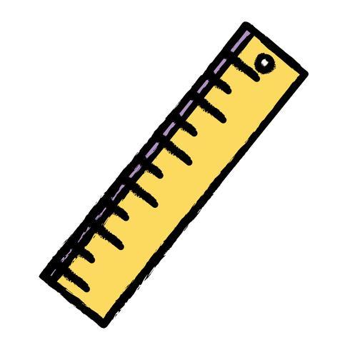 liniaal ontwerp naar school hulpmiddel onderwijs vector