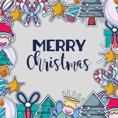 vrolijk kerstfeest gelukkig feest ontwerp vector