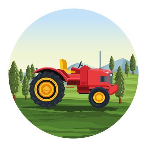 Landbouwtractor voertuig vector