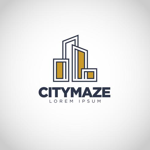 Eenvoudig stadslogo vector