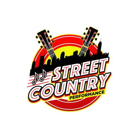 Country muziek prestaties logo vector