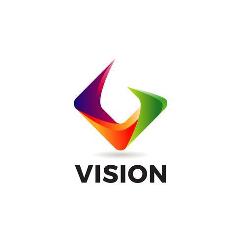 Abstract V-logo vector