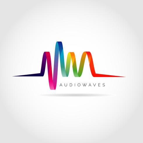 Kleurrijk Audiogolvenlogo vector
