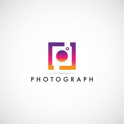 Kleurrijk fotografie-logo vector
