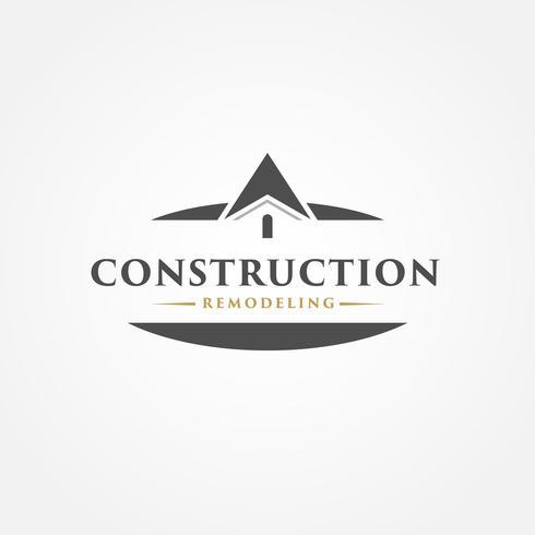 Eenvoudig onroerend goed logo vector